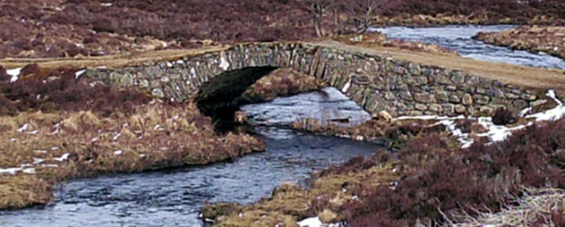 A Wade bridge on a section of Wade Road in Badenoch.
